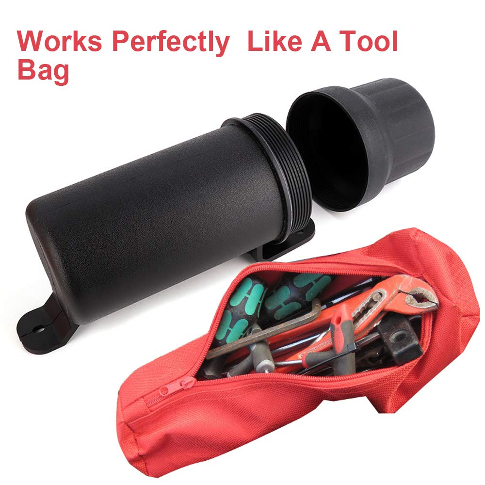 kemimoto Motorcycle Tool Tube Waterproof Gloves Storage Box for BMW Honda Yamaha Kawasaki 2 Pack