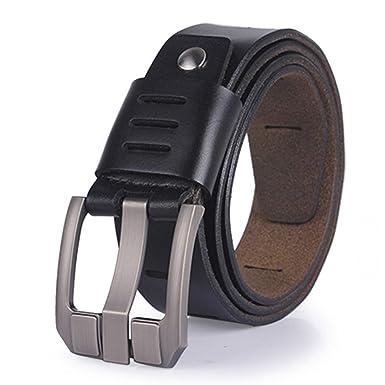 Mens Belts Genuine Leather Belts Men Pin Buckle Belt for Mens Cowskin belts