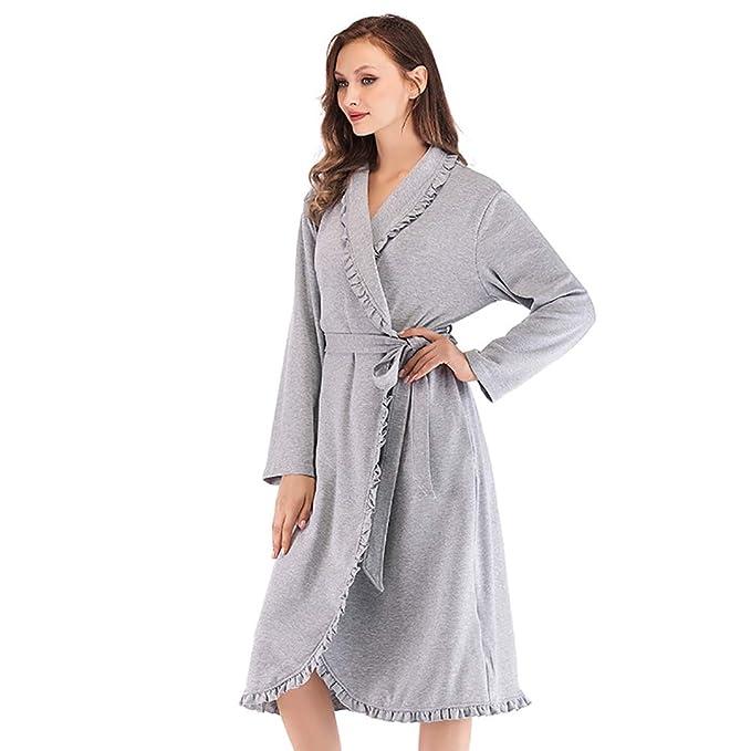 Bata De Baño para Mujeres, Invierno Gruesas Vestido Albornoz De Mujer Pijamas Sexy Cómodo Cálido: Amazon.es: Ropa y accesorios