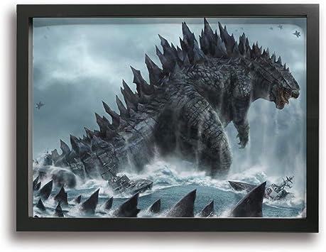 Godzilla Dinosaur Sand Color High Quality Vinyl Sticker