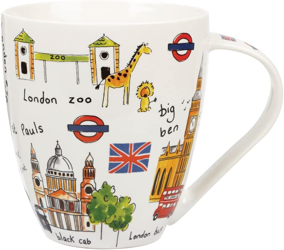 Taza (Porcelana Fina), diseño de Motivos de Londres