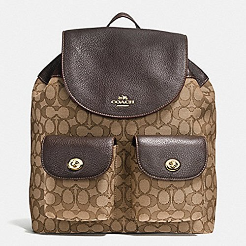 Coach Backpack Outline Signature Leather