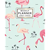 Weekly Planner 2021-2022: Exotic Pink Flamingo Organizer with Vision Boards, To Do Lists, Notes, Holidays | Two Year…