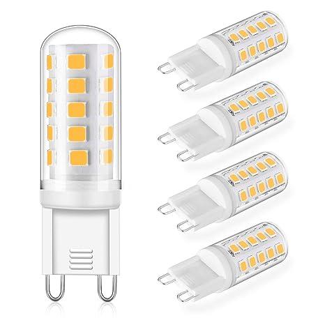 Bombilla LED G9 5W Regulable Equivalente a Lámpara Halógena de 40W 50W Blanco Cálido 3000K,