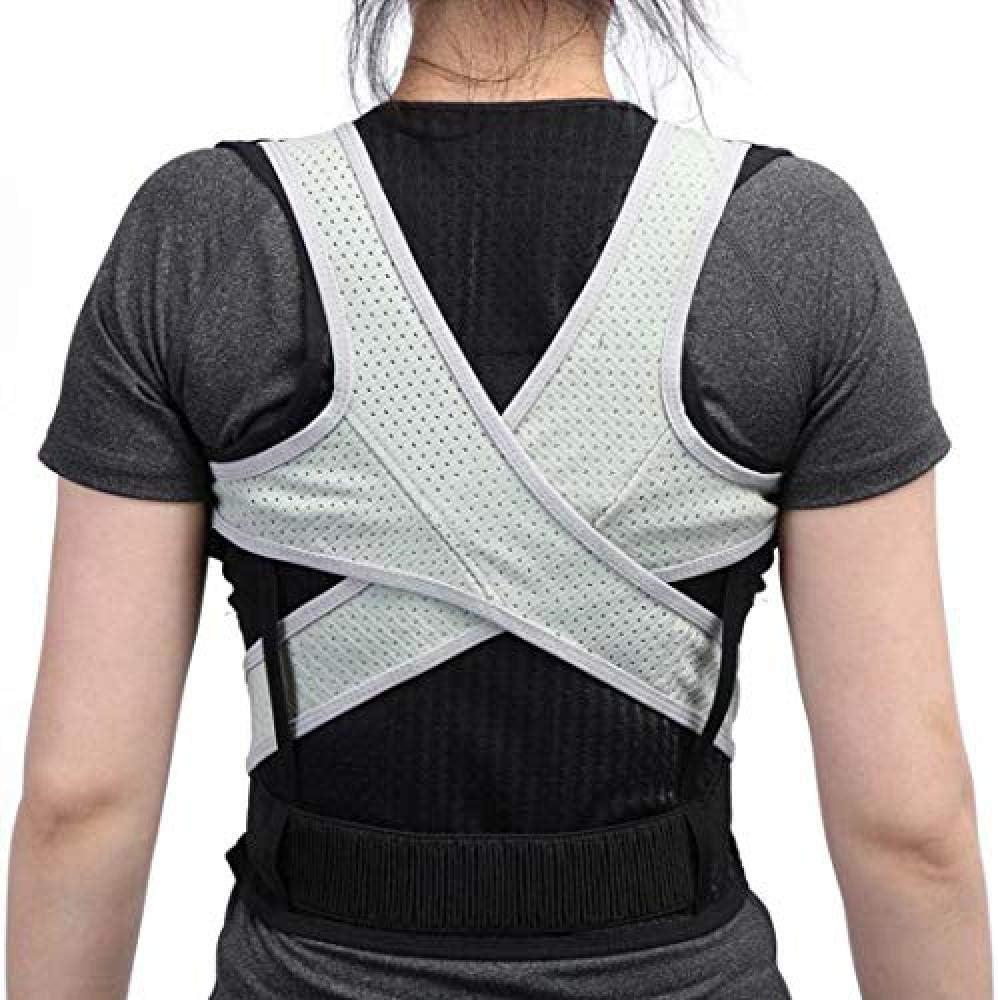 WENZHEN Corrector de Postura de Espalda, corsés de Espalda para Adultos Corsé Corrector ortopédico de Postura de Espalda Chaleco de Soporte de Columna Vendaje Lumbar @ Grande