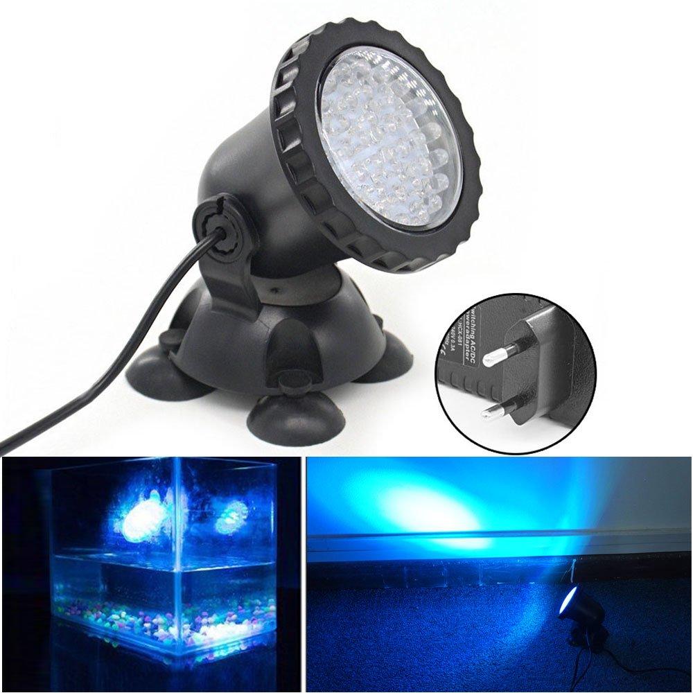 Xcellent Global Foco de 3.5W 36 LED sumergible para acuario Punto de luz para estanque