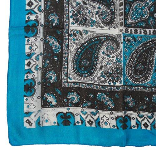 Et Bandana Imprimer Soie Pouces Sarcelle Mode Aboutyou Polka Bleu Foulard Été Écharpe Foulards Noir 40
