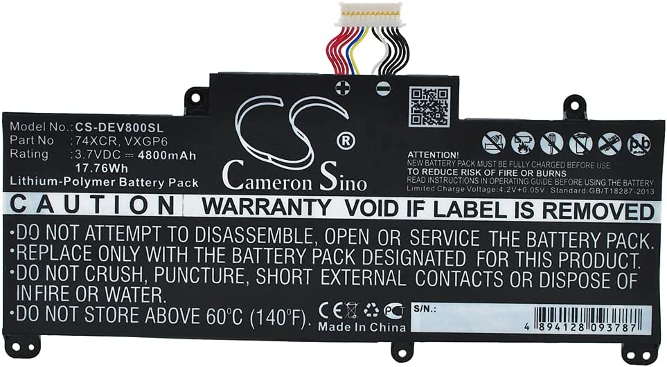 Replacement 74XCR Battery Compatible with DELL Venue 8 Pro T10D-5830 Tablet VXGP6