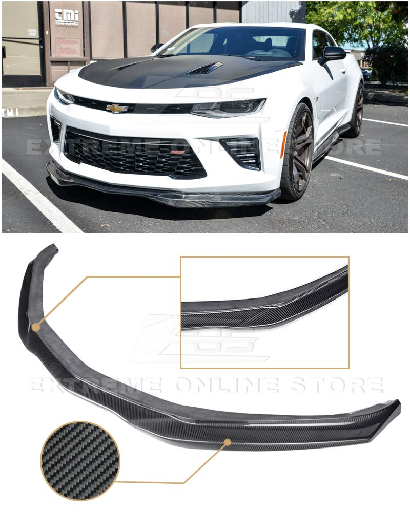 Extreme Online Store for 2016-2018 Chevrolet Camaro SS   EOS T6 Style Carbon Fiber Add On Front Bumper Lower Lip Splitter