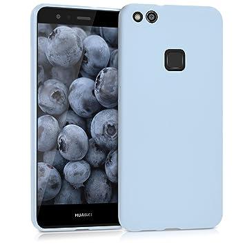 kwmobile Funda para Huawei P10 Lite - Carcasa para móvil en TPU Silicona - Protector Trasero en Azul Claro Mate
