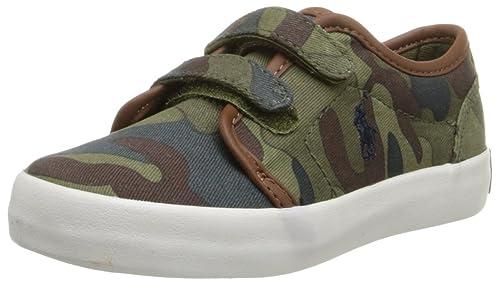 Polo Ralph Lauren Kids Ethan Low EZ Army Camo CVS Shoe (Toddler),Army