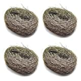 100g Wire Wool Steel Wire Mini Wool Pads For Rust & Fine Sanding (4 Pack) TE359