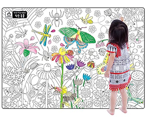 """A Set of 4, Giant Wall Size Coloring Posters for Kids Coloring Book Wall Decals for Kids Room Décor, 29.9"""" X 21.2""""(Nature) for cheap"""