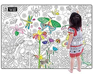 A Set Of 4 Giant Wall Size Coloring Posters For Kids Book Decals Room Decor 299 X 212Nature