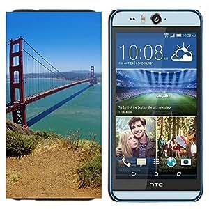 TECHCASE---Cubierta de la caja de protección para la piel dura ** HTC Desire Eye ( M910x ) ** --Naturaleza Campo Sol