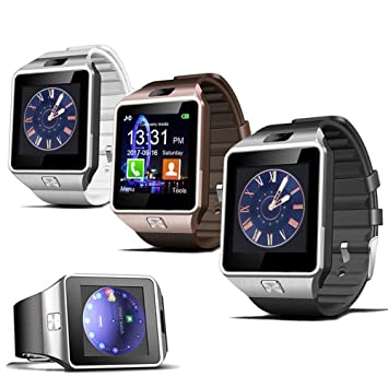 Padgene dz09 Reloj Inteligente Bluetooth - Reloj Móvil gsm Tarjeta SIM para Samsung iPhone Android Teléfono