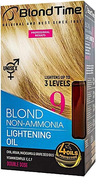 Blond Time Aceite Decolorante para cabello aclara hasta 3 tonos Sin Amoniaco 180 ml