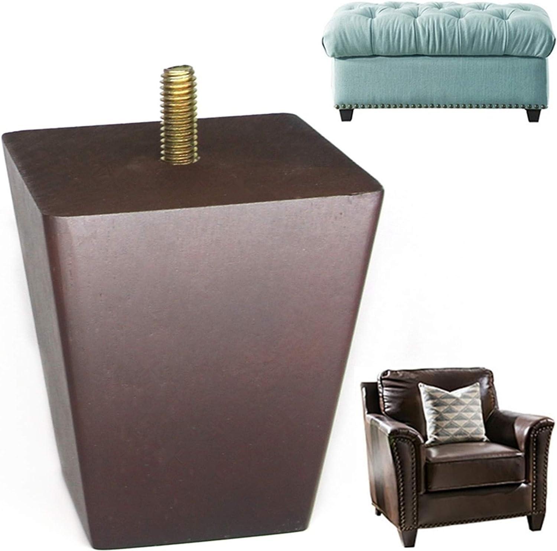 wood sofa legs Square Pyramid Wood walnut Furniture Legs 3 inch Set of 4 5/16