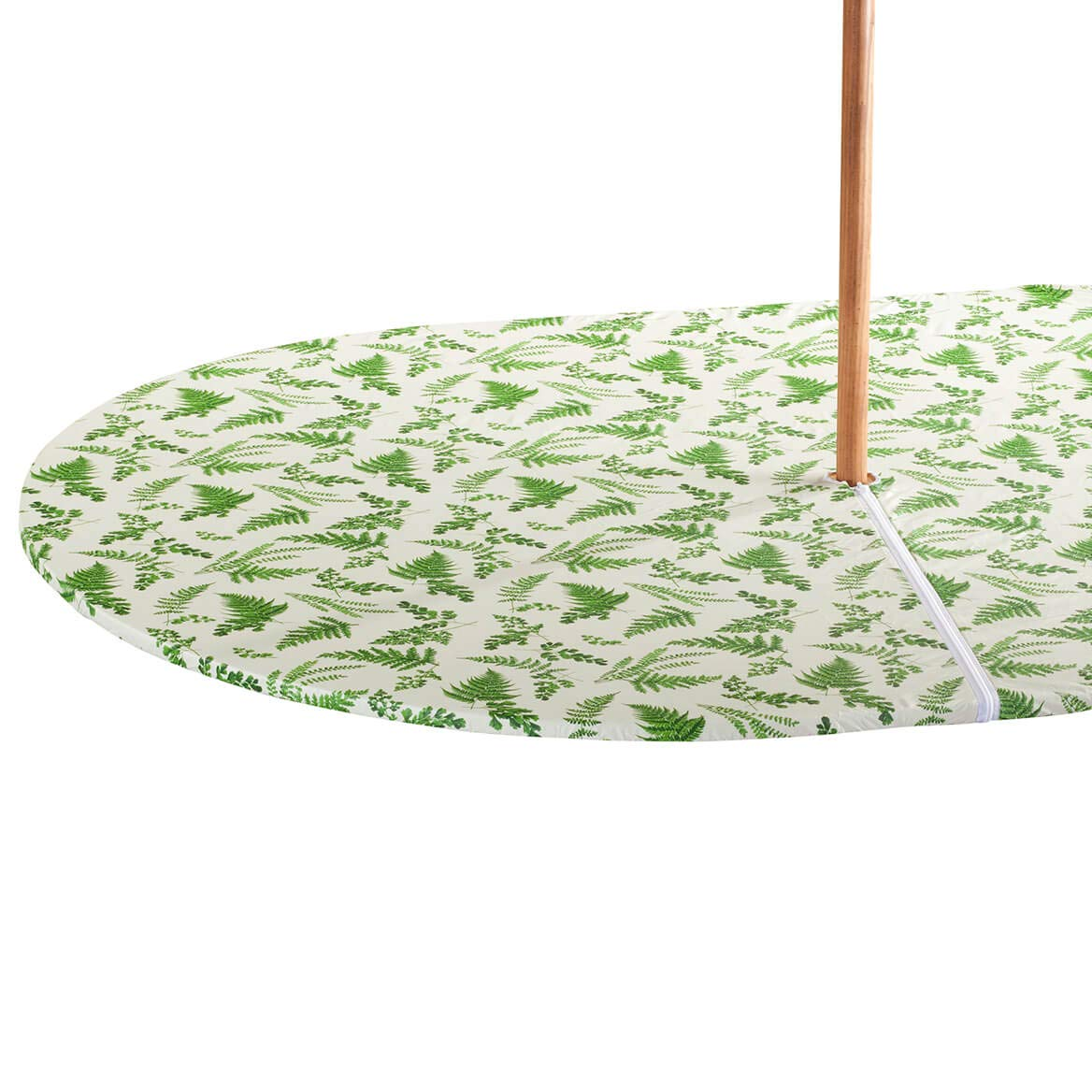 42 x 68 Oval Fox Valley Traders Garden Greenery Zippered Elasticized Umbrella Table Cover