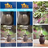 """Tiki 3-in-1 Torches 8"""" Outdoor Table Lamp 50"""" Garden Torch 64"""" Yard Lamp Post Light Tropical Décor For Patio"""