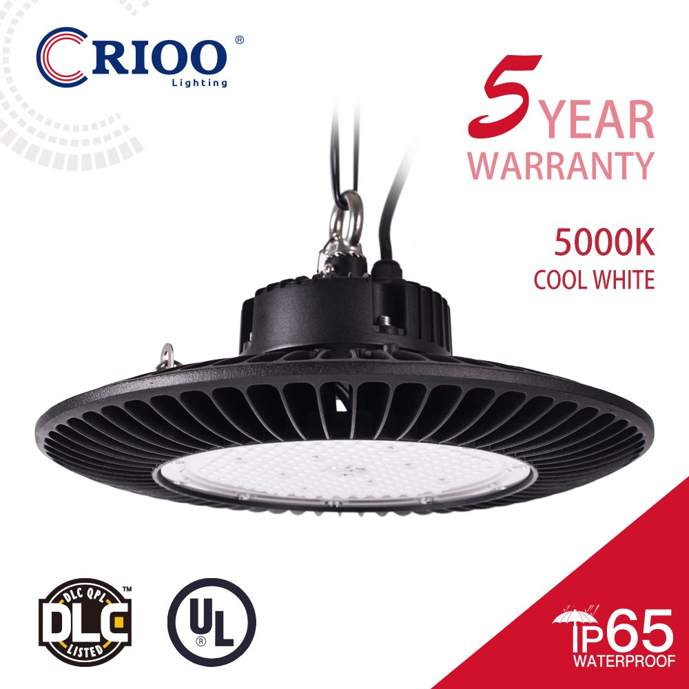 UFO LED High Bay Light Waterproof IP65 High Power Energy-efficient LED Light Warehouse Fixtures (100)[400W HPS|HID Equivalent]