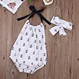BANGELY Baby Girls' Summer One-pieces Anchors