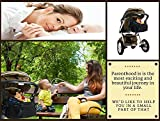 Stroller Organizer Bag with Stroller Hook, Extra Storage Space, Parent Organizer for Stroller, Universal Fit, Cup Holders, Parent Console for Single & Double Stroller