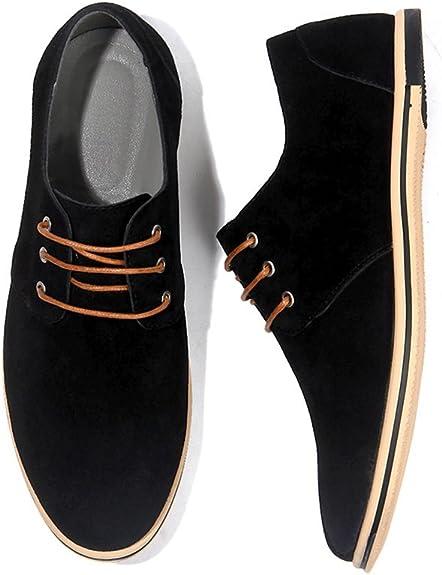 TALLA 49 EU. NXY de los Hombres Casual Cuero Oxford Zapatos Encajes Brogues Pisos Formal Zapatos de Negocios