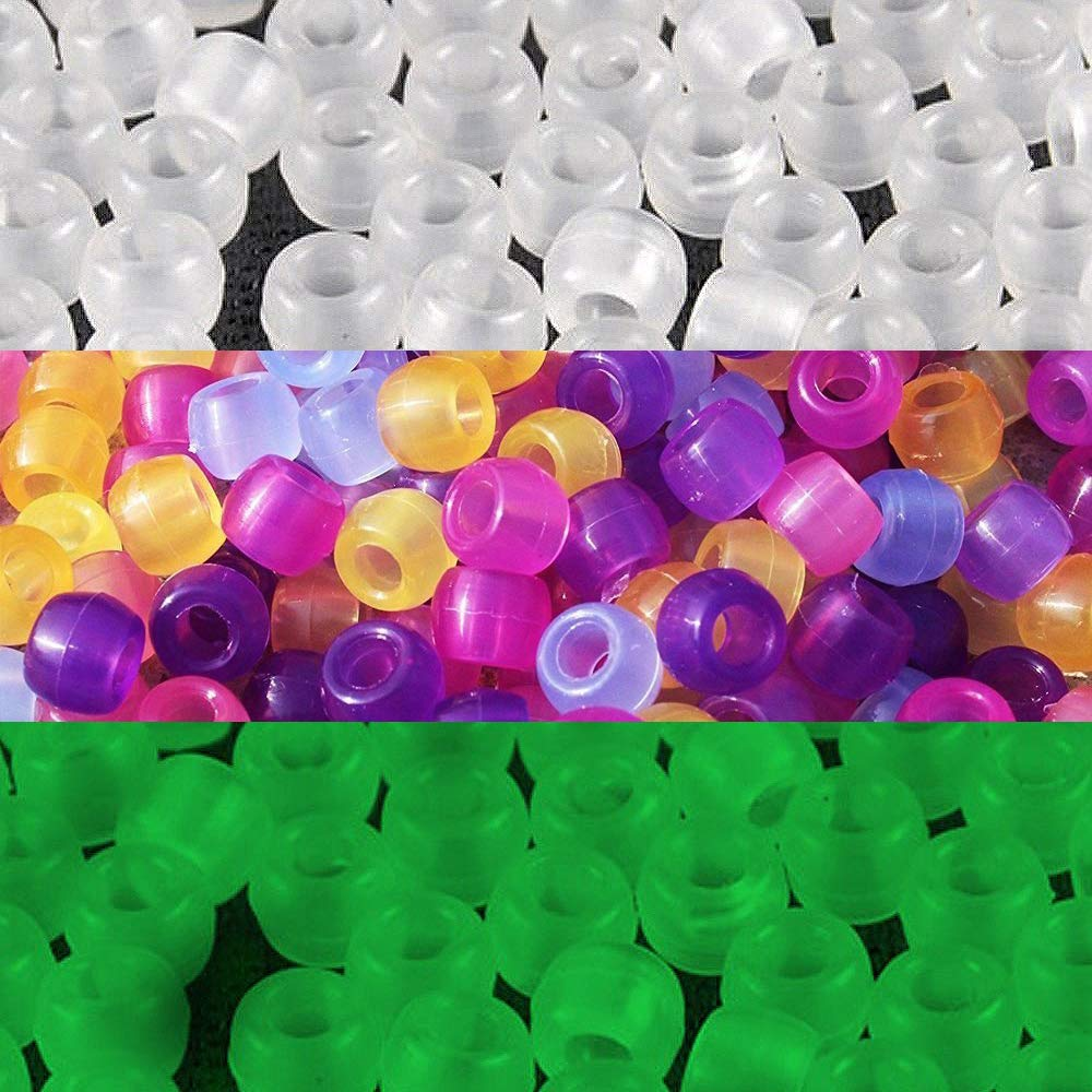 JPSOR 500 Pcs Uv Beads Multi Color Changing Reactive Plastic Beads - Also Glows in the Dark (Glows in the Dark) Goodlucky 4336814764