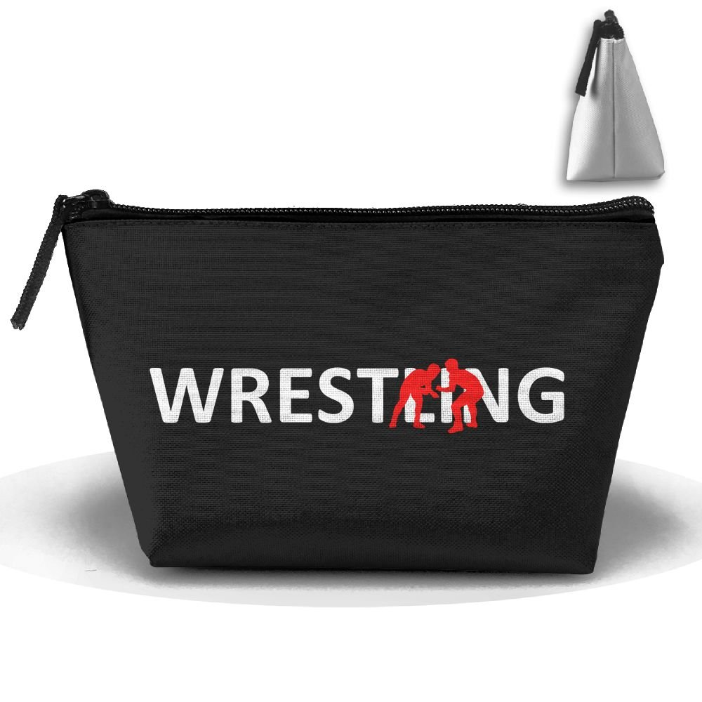 MOCSTONE Wrestling Player Lover Trapezoid Portable Pouch Cosmetic Bag Storage Bag
