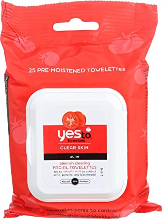Yes to Tomatoes Blemish Clearing Facial Towelettes, Clear Skin Acne 25 ea (Pack of 4) Estee Lauder - Enlighten Even Effect Skintone Corrector SPF 30 #02 Medium - 30ml/1oz