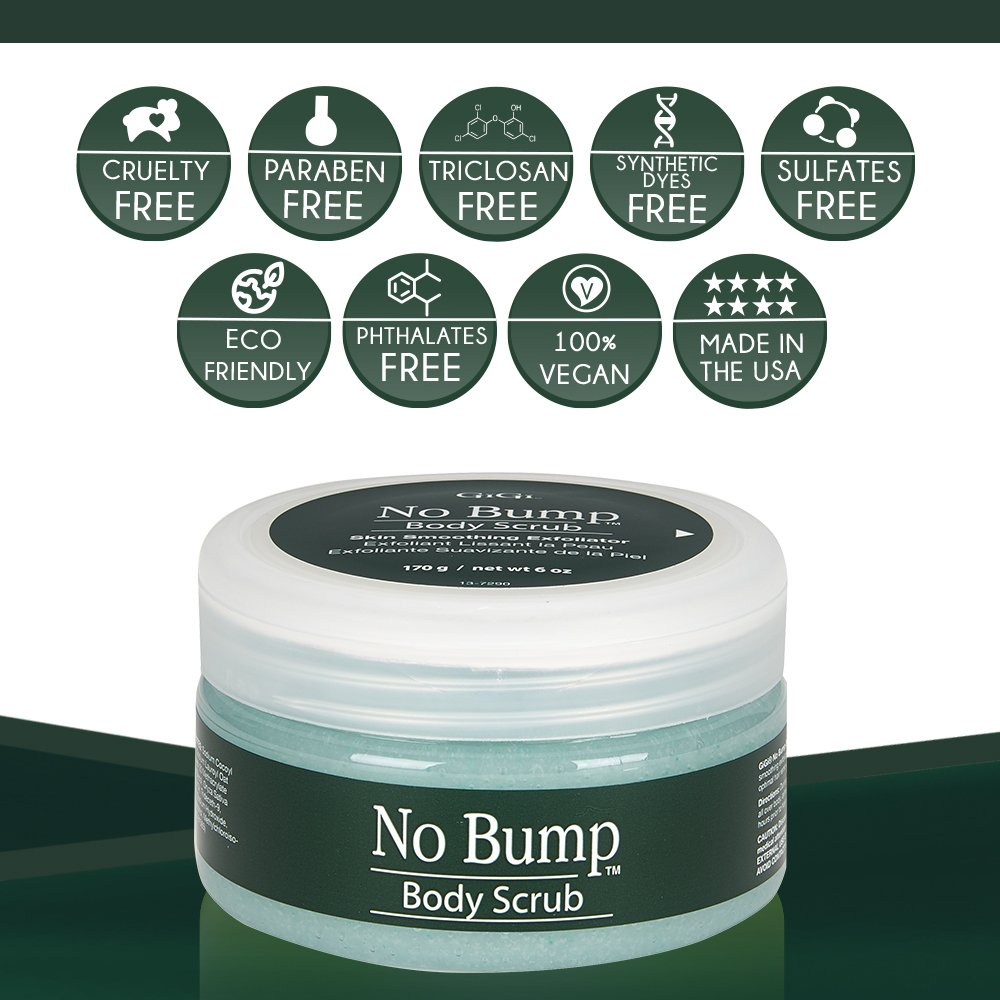 GiGi No Bump Body Scrub with Salicylic Acid for Ingrown Hair & Razor Burns, 6 oz by GiGi (Image #3)