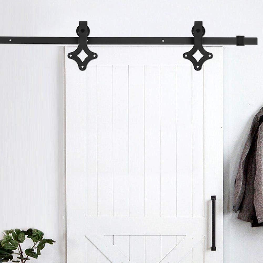 Zoternen - Riel de Puerta corrediza para Colgar de Madera, Sistema de Puerta corredera de Acero al Carbono, fácil ...