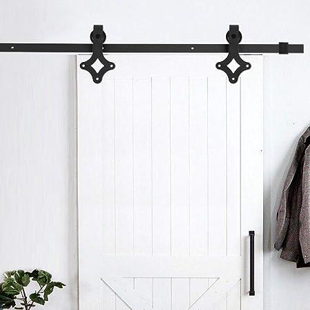 Zoternen - Riel de Puerta corrediza para Colgar de Madera, Sistema de Puerta corredera de Acero al Carbono, fácil instalación: Amazon.es: Hogar