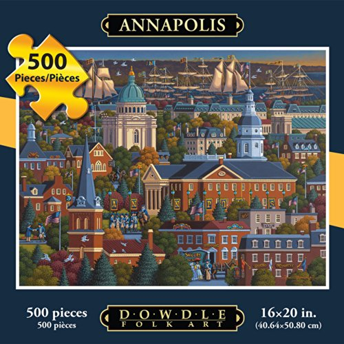 Jigsaw Puzzle - Annapolis 500 Pc By Dowdle Folk - Annapolis Kids