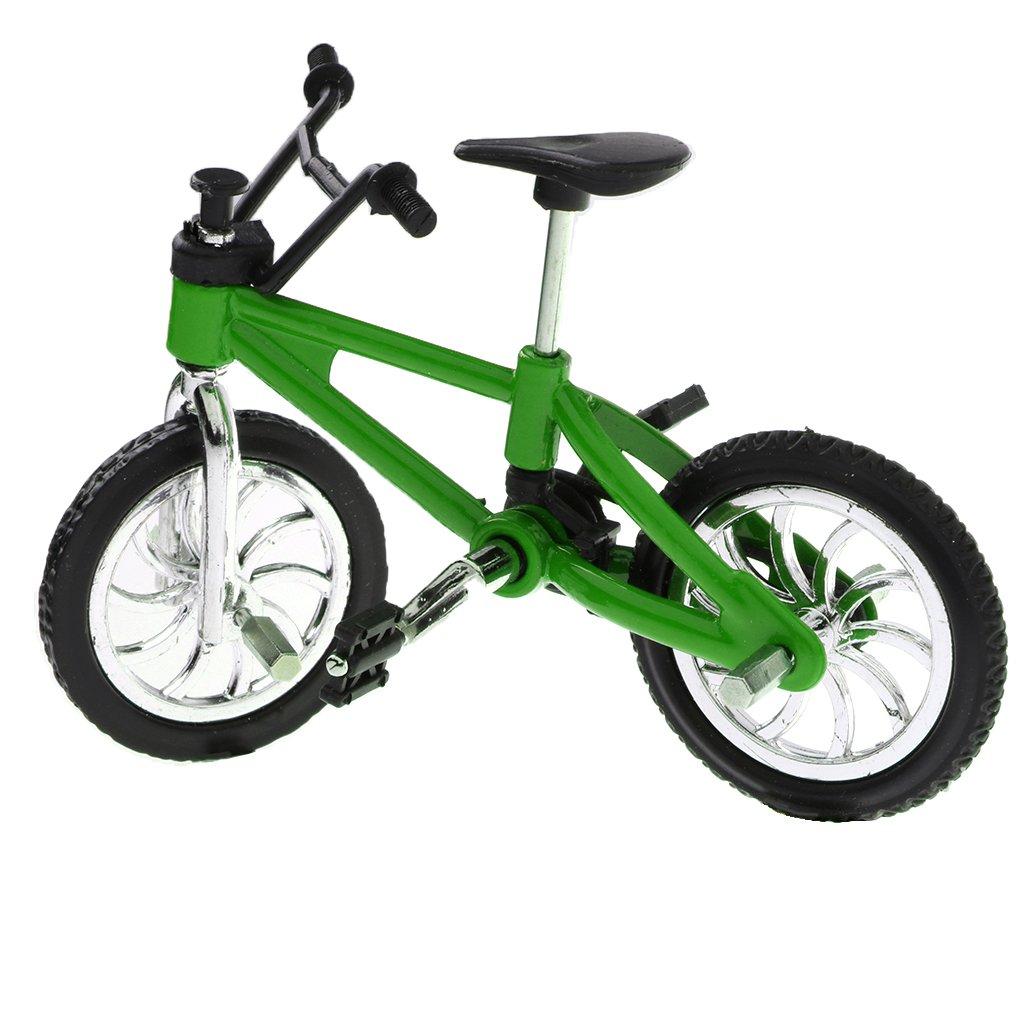 Homyl 2 Pz Giocattolo Biciclette BMX Mano Dito Pneumatico Mountain Bike Bambino Regale Natale Verde