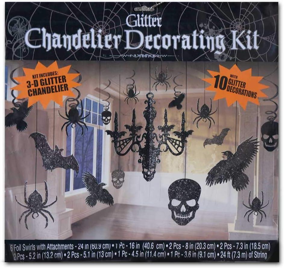 6 Spinnen Glitter