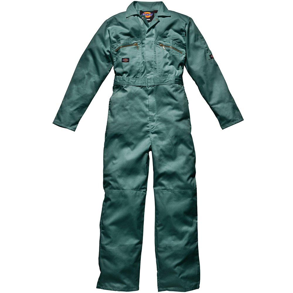 44R Dickies WD4839 Redhawk Overall with Zip Front Lincoln Green