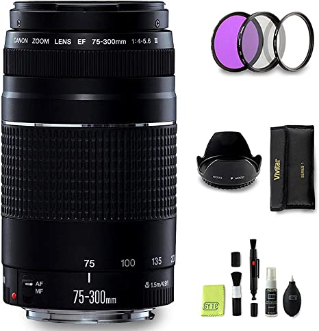 GYTE BUNDLE | Objetivo Canon - EF 75-300 mm f/4-5,6 III: Amazon.es ...