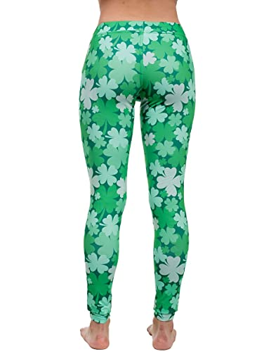 b5267f19b0 Women's Green St. Patrick's Day Leggings - St. Paddy's Day Tights Pants for  Ladies