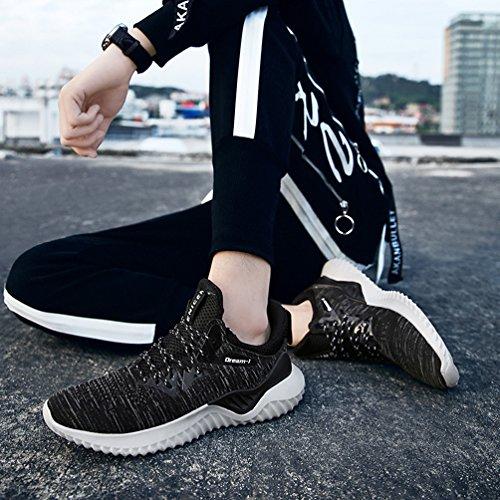 Grigio Running Basse Uomo Jindeng Ginnastica Scarpe Da a Fitness Respirabile Corsa Sneakers Mesh All'aperto Sportive PzzOFq