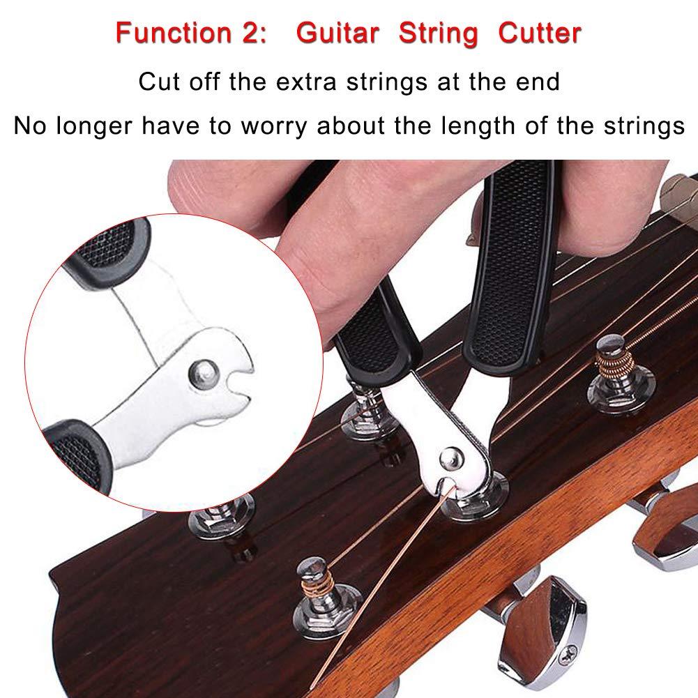CJRSLRB 3Pack Guitar String Winder Guitar Cutter and Bridge Pin Puller 3 in 1 Guitar Repair Tool