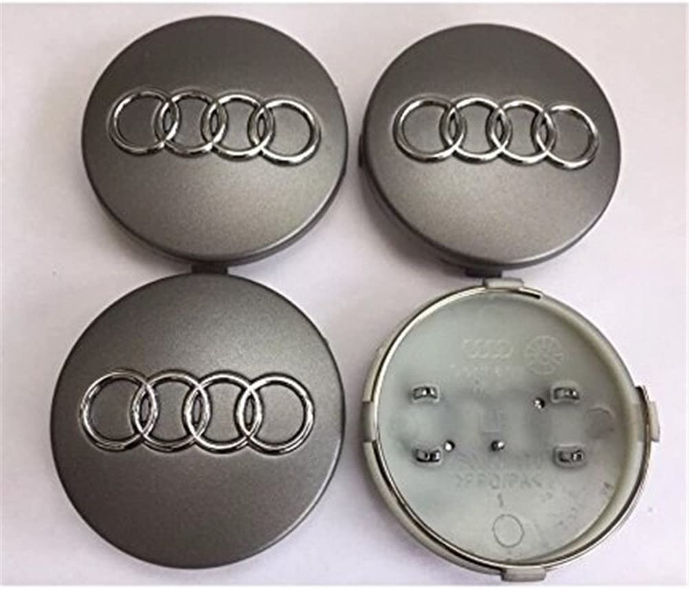 4pcs 60mm wheel cover hub cap middle emblem Red Silver S Line caps for Audi