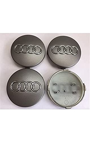 set of 4 audi alloy wheel centre caps 60mm. Black Bedroom Furniture Sets. Home Design Ideas