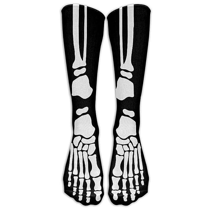 368c5cc3909 Amazon.com  Skeleton Bone Cool Hallowmas Womens Sexy Lovely Long Soccer Socks  Knee High Socks Cosplay Sports Socks  Clothing