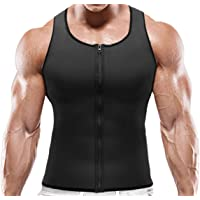 NOVECASA Sauna Vest Gewichtsverlies Heren Neopreen met Rits Spier Shirt Kostuums Fitness Tank Top Shapewear Shirt…