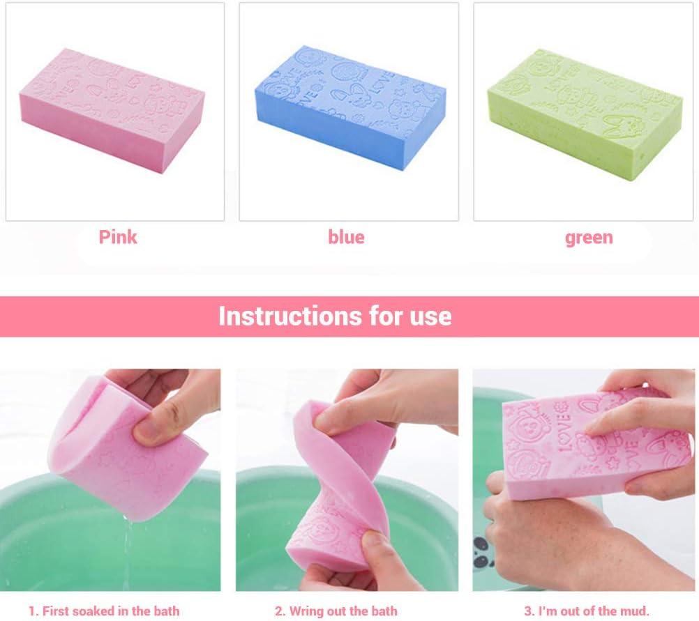 Calayu Lot de 3 /éponges de bain souples pour le corps