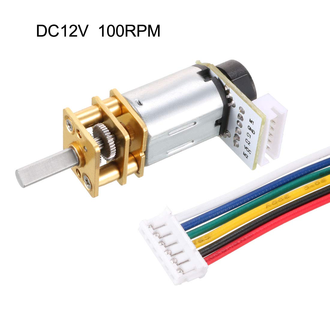uxcell GA12-N20 12V 190RPM DC Gear Motor with Encoder Speed Velocity Measurement for Mini Car Balance Motor Encoder DIY