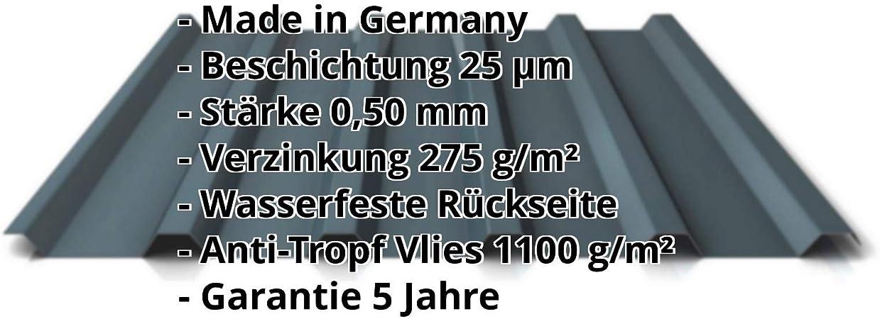 Profil PS45//1000TR Beschichtung 25 /µm St/ärke 0,40 mm Profilblech Dachblech Material Stahl Farbe Anthrazitgrau Trapezblech