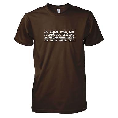 TEXLAB - Schlimmer Montag - Herren T-Shirt, Größe S, braun